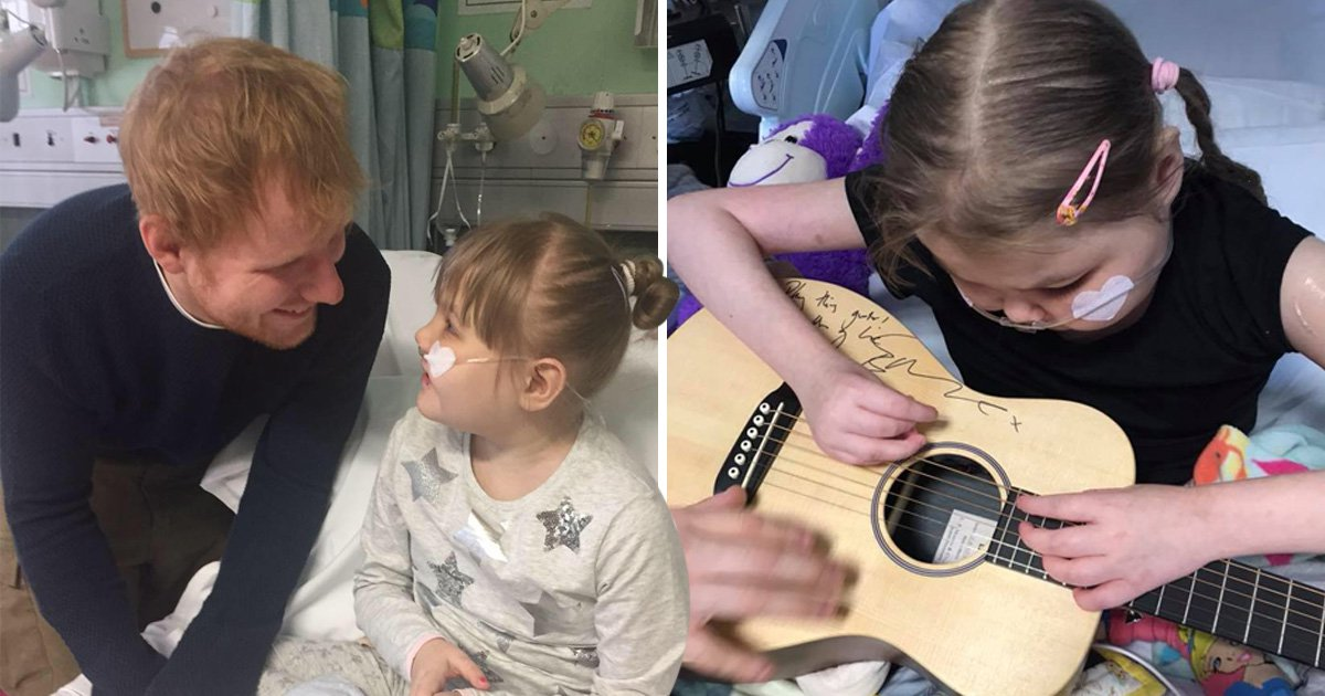 Ed Sheeran helps raise £50,000 for terminally ill girl whose parents face legal battle for pain relief